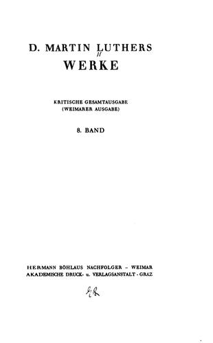 Download D. Martin Luthers Werke