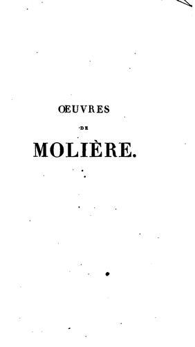 Oeuvres de Molière