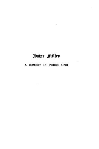 Download Daisy Miller: A Comedy in Three Acts