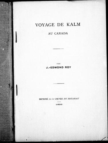 Download Voyage de Kalm au Canada