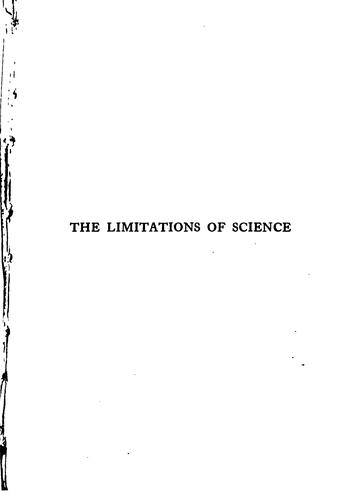 Download The limitations of science