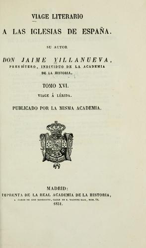 Viage literario a las iglesias de Espana.