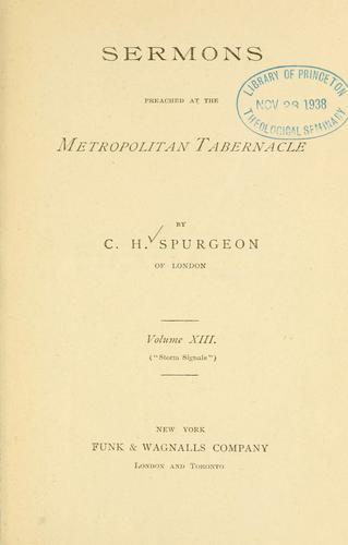 Download Sermons of Rev. C.H. Spurgeon of London.