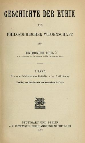 Geschichte der ethik als philosophischer wissenschaft