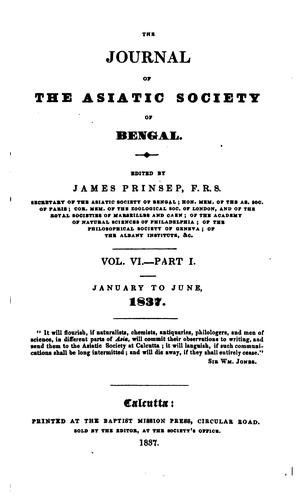 Journal of the Asiatic Society of Bengal
