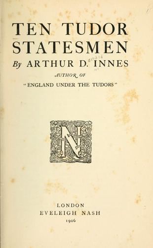 Ten Tudor statesmen