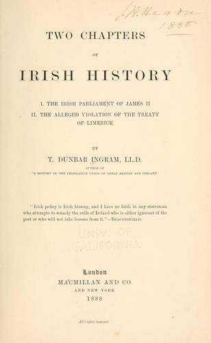 Download Two chapters of Irish history