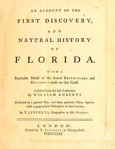 Download An account of the first discovery, and natural history of Florida