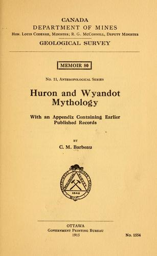 Huron and Wyandot mythology