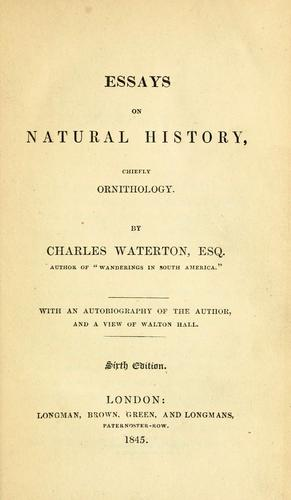 Download Essays on natural history