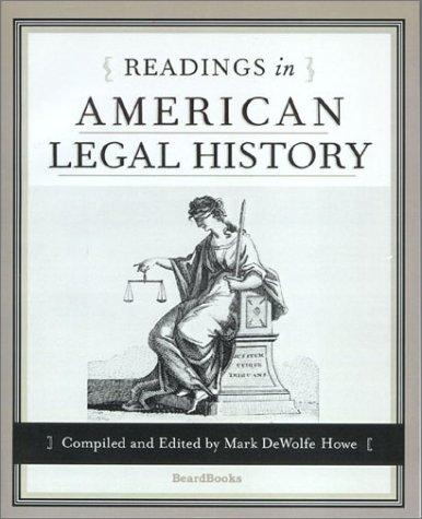 Readings in American Legal History
