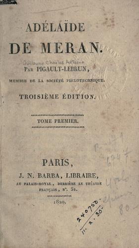 Adélaide de Méran.