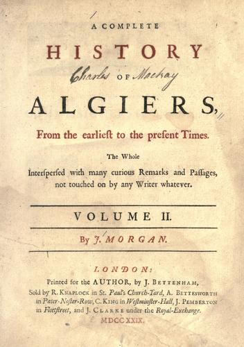 Download A complete history of Algiers.