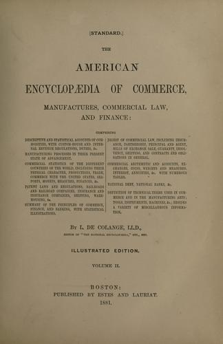 Download The American encyclopædia of commerce, manufactures, commercial law, and finance