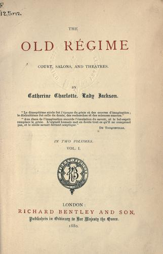 Download The Old Régime