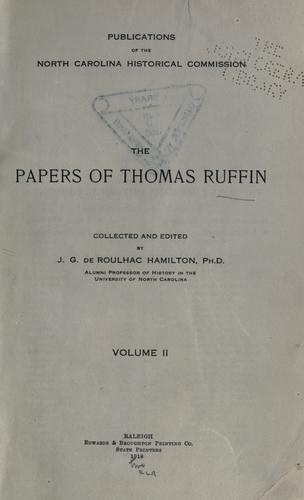 The papers of Thomas Ruffin.