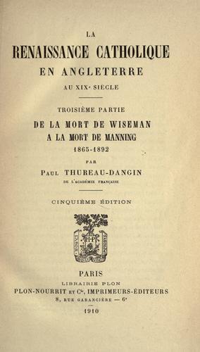 Download La renaissance catholique en Angleterre au XIXe siècle