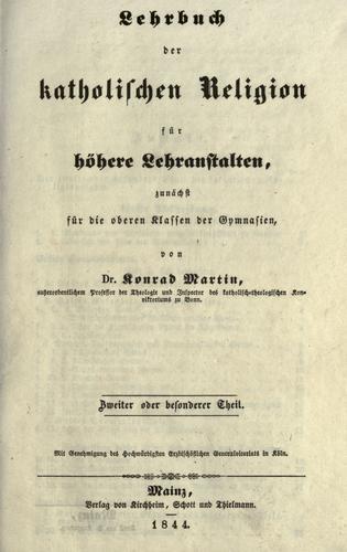 Download Lehrbuch der katholischen Religion