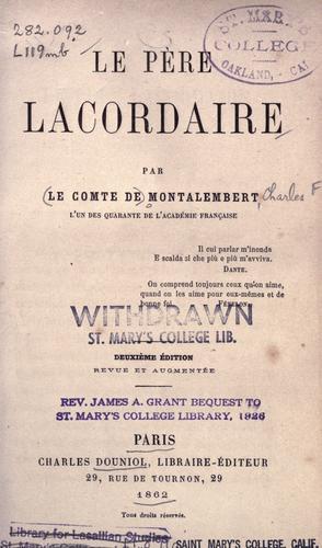 Download Le père Lacordaire