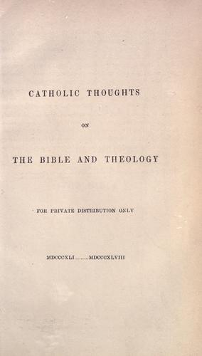 Download Catholic thoughts on the Bible and theology.
