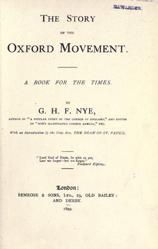 Download The story of the Oxford movement