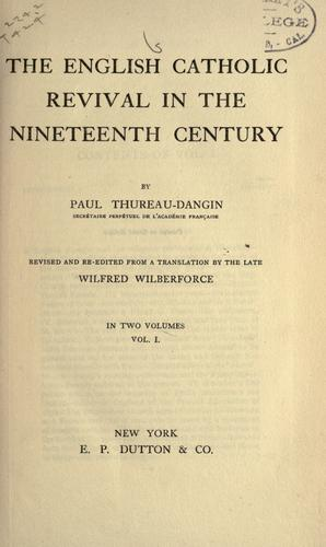 Download The English Catholic revival in the nineteenth century