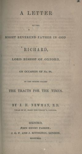 Download A letter to the Right Reverend Father in God, Richard, Lord Bishop of Oxford