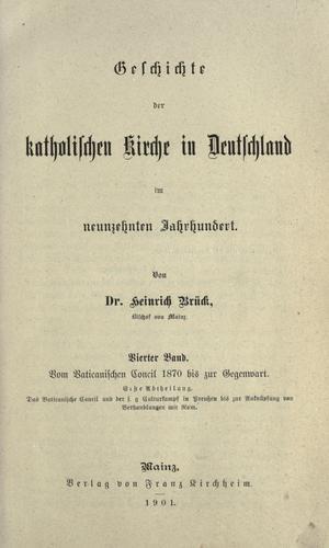 Download Geschichte der katholischen Kirche in Deutschland im neunzehnten Jahrhundert