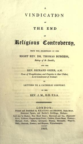 Download A vindication of the end of religious controversy