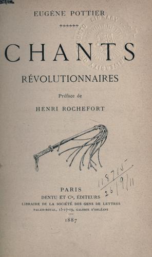Chants révolutionnaires.