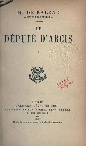 Le député d'Arcis.