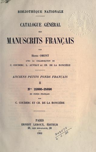 Download Catalogue général des manuscrits français