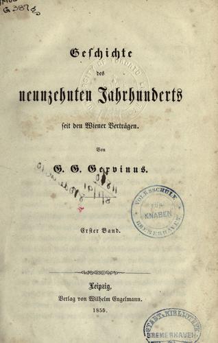 Download Geschichte des neunzehnten Jahrhunderts seit den Wiener Verträgen.