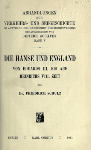 Download Die Hanse und England von Eduards III. bis auf Heinrichs VIII. Zeit
