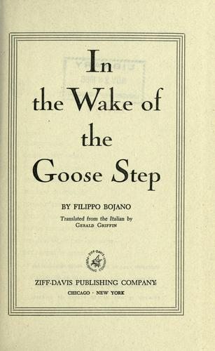 In the wake of the goose-step