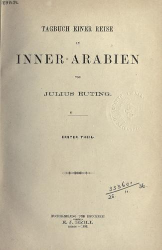 Download Tagbuch einer Reise in Inner-Arabien.