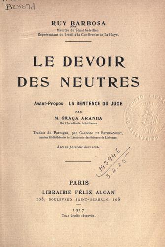Download Le devoir des neutres