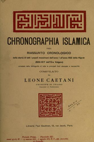 Download Chronographia Islamica