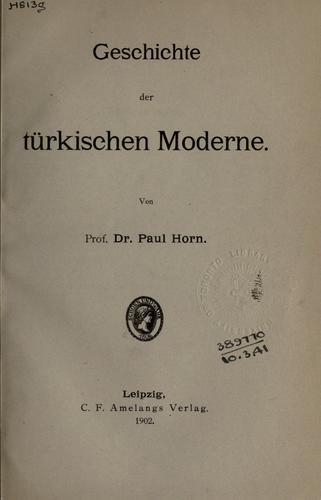 Download Geschichte der türkischen Moderne.