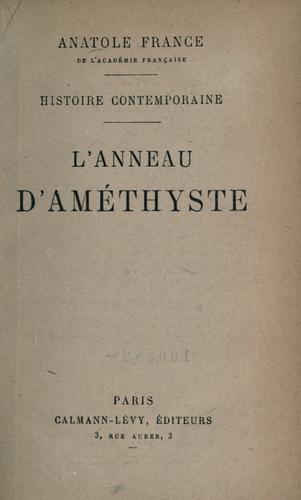 Download L' anneau d'améthyste.