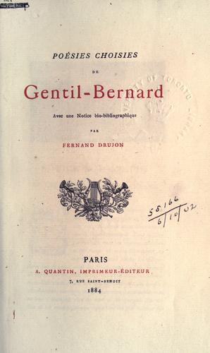 Poésies choisies de Gentil-Bernard.