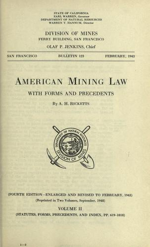 Download American mining law
