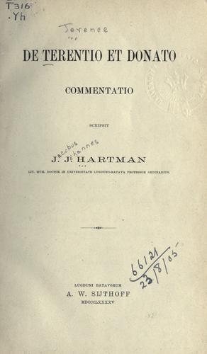 De Terentio et Donato commentatio.