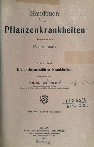 Download Handbuch der Pflanzenkrankheiten