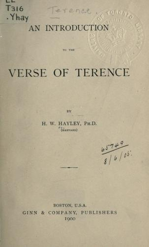 An introduction to the verse of Terence.