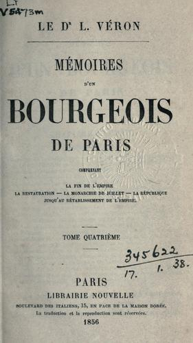 Mémoires d'un bourgeois de Paris