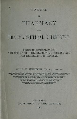Download Manual of pharmacy and pharmaceutical chemistry