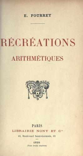 Download Récréations arithmétiques.