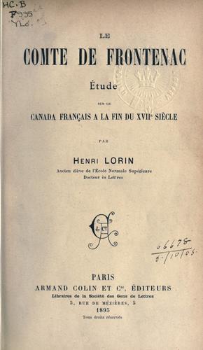 Download Le Comte de Frontenac