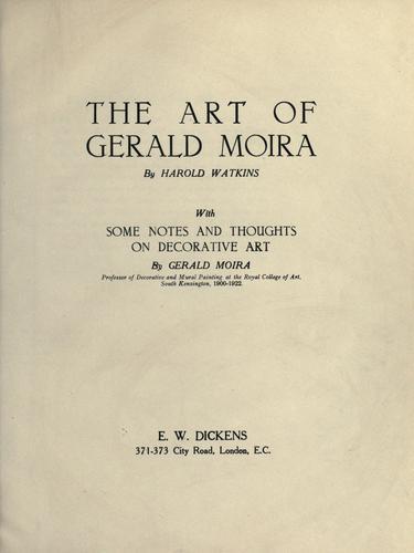 Download The art of Gerald Moira
